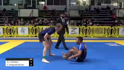 William J McMann vs Christian Fitzgerald Alcivar 2021 Pan IBJJF Jiu-Jitsu No-Gi Championship