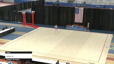 Nikki Liu - Clubs - 2021 Rhythmic Elite Qualifier