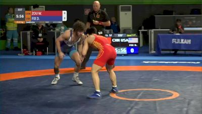 57 kg Prelims - Daton Fix, USA vs Wanhao Zou, CHN