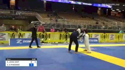 ERIC JOHN VOGT vs STEVEN A PIWOWAR 2021 Pan Jiu-Jitsu IBJJF Championship