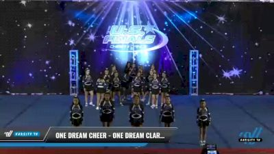 One Dream Cheer - One Dream Clarity [2021 L3 Perf Rec - 18 and Younger (NON) Day 2] 2021 The U.S. Finals: Phoenix