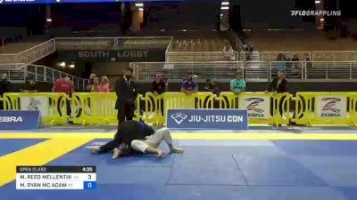 MICHAEL REED MELLENTHIN vs MICHAEL RYAN MC ADAM 2021 Pan Jiu-Jitsu IBJJF Championship