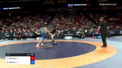 67 kg Round 2 - Peyton Omania, New York Athletic Club vs Alejandro Sancho, Army (WCAP)
