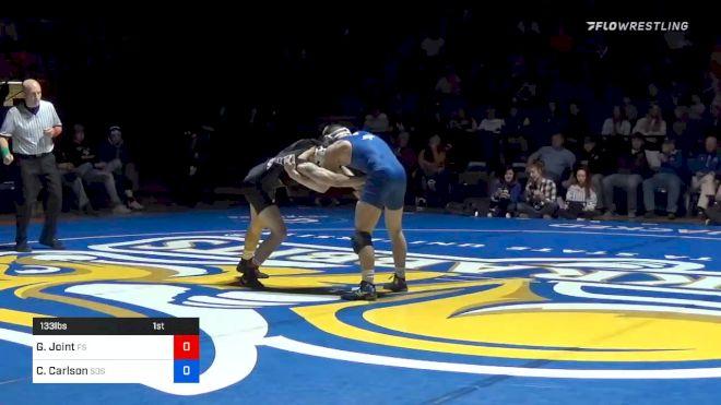 133 lbs Clay Carlson, SDSU vs Gary Joint, Fresno State