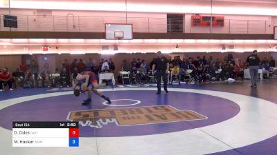 67 kg Consolation - Daniel Coles, Canada vs Michael Hooker, Army (WCAP)