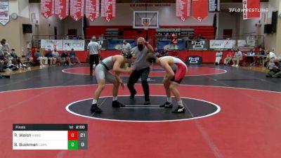 152 lbs Final - Rocco Welsh, Waynesburg vs Bryce Buckman, Central Dauphin