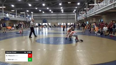 Quarterfinal - Wyatt Maturin, Kent State Unattached vs Luke Werner, Lock Haven Unattached