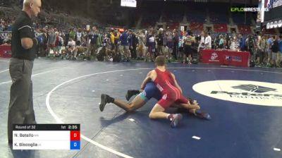 120 lbs Round Of 32 - Nicolas Botello, Massachusetts vs Kyle Biscoglia, Iowa