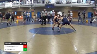 Semifinal - Terrell Barraclough, Penn State Unattached vs Brock Zacherl, Clarion