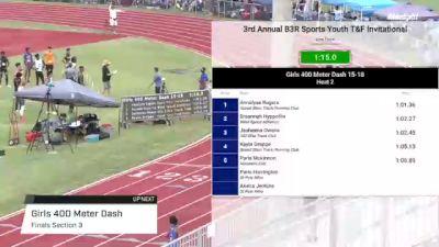 Youth Girls' 400m, Finals 3 - Age under 18