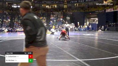 125 lbs Prelims - Corey Cabanban, Iowa State vs Michael McGee, Old Dominion