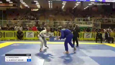 NATHAN ALBRECHT MENDELSOHN vs ADAM WARDZINSKI 2021 Pan Jiu-Jitsu IBJJF Championship