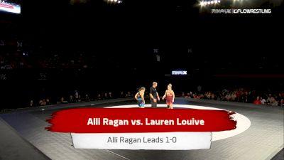 59 kg 2 Of 3 - Lauren Louive, New York Athletic Club vs Alli Ragan, Sunkist Kids Wrestling Club