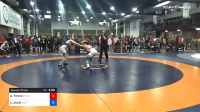 70 kg Quarterfinal - Anthony Ferrari, Cowboy Wrestling Club vs Edward Scott, Wolfpack Wrestling Club