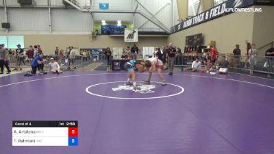 74 kg Consi Of 4 - Anthony Artalona, PRTC vs Taleb Rahmani, Pittsburgh Wrestling Club
