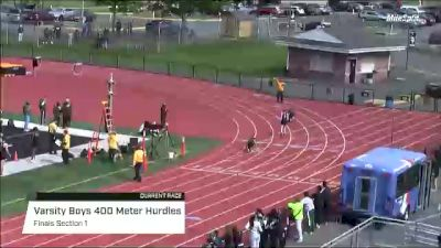 High School Boys' 400m Hurdles Varsity, Finals 1