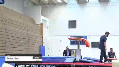 Cameron Bock - Vault, University of Michigan - 2021 Men's Olympic Team Prep Camp