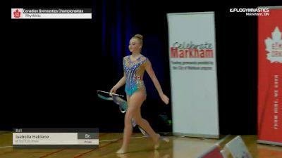 Isabella Haldane - Ball, British Columbia - 2019 Canadian Gymnastics Championships - Rhythmic