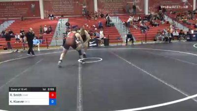 125 kg Consolation - Riley Smith, Navy-Marine Corps Mat Club vs Keaton Kluever, Gopher Wrestling Club - RTC