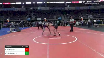 145 lbs 3rd Place - Paxton Willett, Unattached vs Jason Kawaykla, Chickasha Youth Wrestling