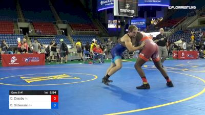 220 lbs Cons 8 #1 - Dorian Crosby, Pennsylvania vs Cabe Dickerson, Oklahoma