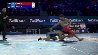 79 kg Repechage #2 - Samuel Barmish, Canada vs Radik Valiev, Russian Wrestling Federation