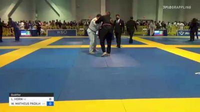 LONDON HORN vs WILLIAM MATHEUS PADILHA MACIEL 2021 American National IBJJF Jiu-Jitsu Championship