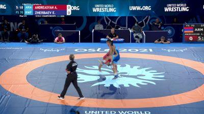 70 kg Final 3-5 - Arman Andreasyan, Armenia vs Evgenii Zherbaev, Russian Wrestling Federation