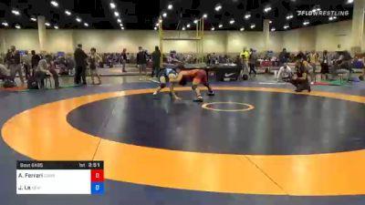 65 kg Prelims - Anthony Ferrari, Cowboy Wrestling Club vs Jaden Le, New York City RTC