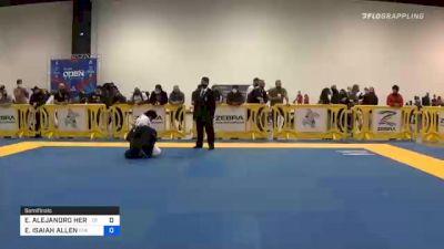 EMILIO ALEJANDRO HERNANDEZ RODRI vs EDWARD ISAIAH ALLEN 2020 Atlanta International Open IBJJF Jiu-Jitsu Championship