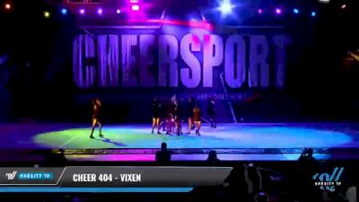 Cheer 404 - ViXen [2021 L4 Junior - D2 - Small Day 1] 2021 CHEERSPORT National Cheerleading Championship
