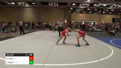82 lbs Round Of 16 - Kash Long, Bear Cave vs Jake Agolia, Team SoCal