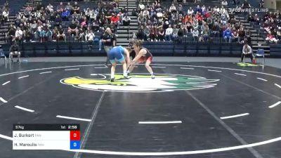 57kg Finals 1 of 2: Jenna Burkert, US Army WCAP vs Helen Maroulis, Sunkist Kids