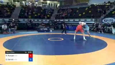 97 kg Semifinal - Kalob Runyon, Iron Rams Wrestling Club vs Christian Carroll, Midwest Regional Training Center