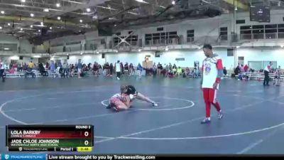 127 lbs Round 3 - Lola Barkby, Charlie`s Angels vs Jade Chloe Johnson, Westerville North High School