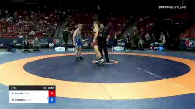 77 kg 3rd Place - Peyton Walsh, Marines vs Britton Holmes, Army (WCAP)