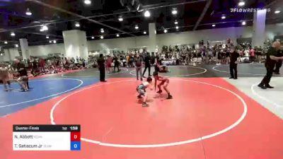 86 kg Quarterfinal - Nathan Abbott, Vcwa vs Ty Satiacum Jr, Team Aggression