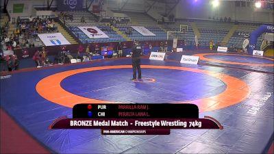 74 kg Final 3-5 - Jonathan Parrilla Ramos, Puerto Rico vs Leon Juan Carlos Peralta Lanas, Chile
