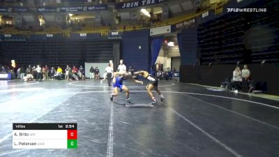 141 lbs Consolation - Anthony Brito, Appalachian State vs Lenny Petersen, Air Force