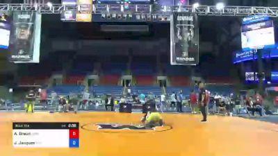 74 kg Rr Rnd 3 - Austin Braun, Minnesota vs Jarrett Jacques, Tiger Style Wrestling Club