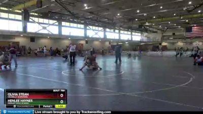 180 lbs 1st Place Match - Olivia Stean, Hillbilly Hamsters vs Henlee Haynes, Mosley High School