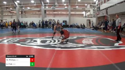 Consolation - Mason Phillips, North Carolina vs Garrett Fisk, University Of Maryland Unattached