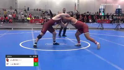 285 lbs Prelims - Josiah Jones, Oklahoma vs John Borst, Virginia Tech