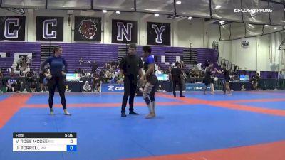 VICTORIA ROSE MCGEE vs JESSICA BORRELL 2019 Pan IBJJF Jiu-Jitsu No-Gi Championship