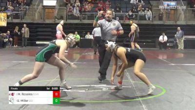 143 lbs Final - Mackayla Rosales, Schreiner University - W vs Grace Miller, Umpqua Community College