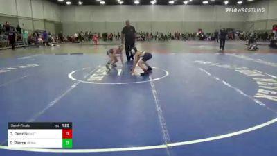 85 lbs Semifinal - Daniel Dennis, East Coast Bandits vs Easton Pierce, Okwa