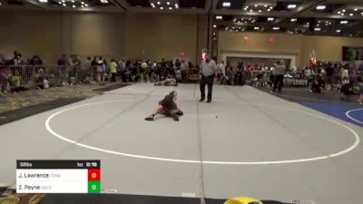 58 lbs Consolation - Julian Lawrence, Team Aggression vs Zaydn Payne, Gold Rush Wr Ac