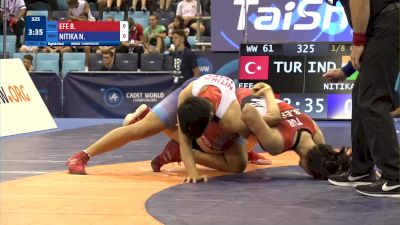 61 kg 1/8 Final - Busra Efe, Turkey vs Nikita Nitika, India