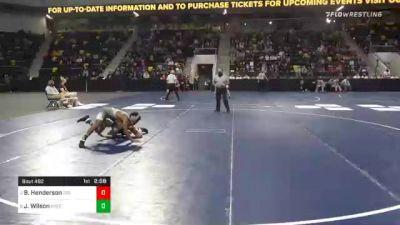 133 lbs Semifinal - Brock Henderson, Coe College vs Joshua Wilson, Greensboro College