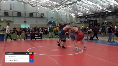 125 kg 7th Place - Christian Lance, Nebraska vs Tate Orndorff, Utah Valley RTC